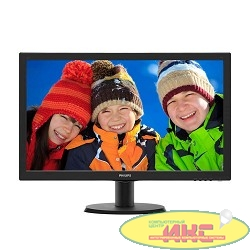 "LCD PHILIPS 23.6"" 243V5QHABA (00/01) черный {MVA, LED, 1920x1080, 8 ms, 178°/178°, 250 cd/m, 10M:1, DVI, HDMI, D-Sub}"
