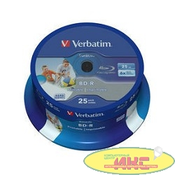Verbatim  BD-R 25 GB 6x CB/25 Full Ink Print NO ID (43811)