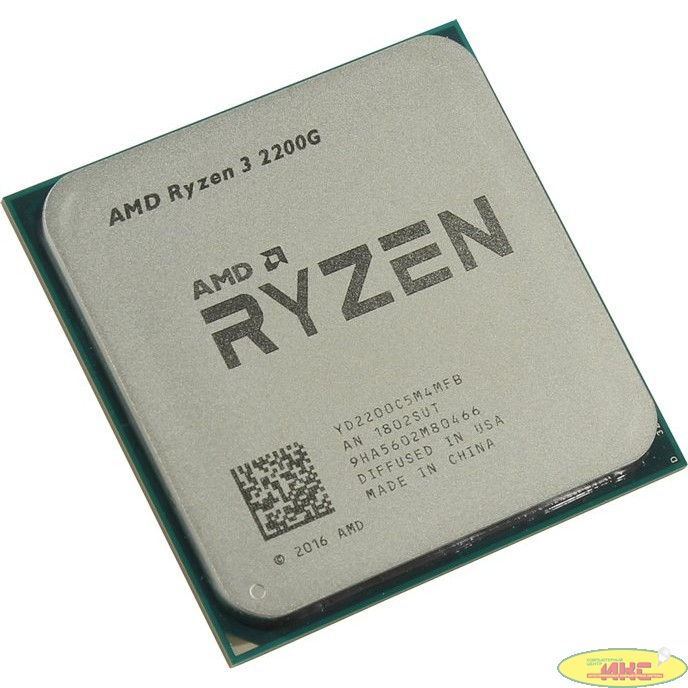 CPU AMD Ryzen Ryzen 3 2200G OEM {3.5-3.7GHz, 4MB, 65W, AM4, RX Vega Graphics}